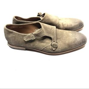Doucal's buckle up slip leather loafers size 40.5